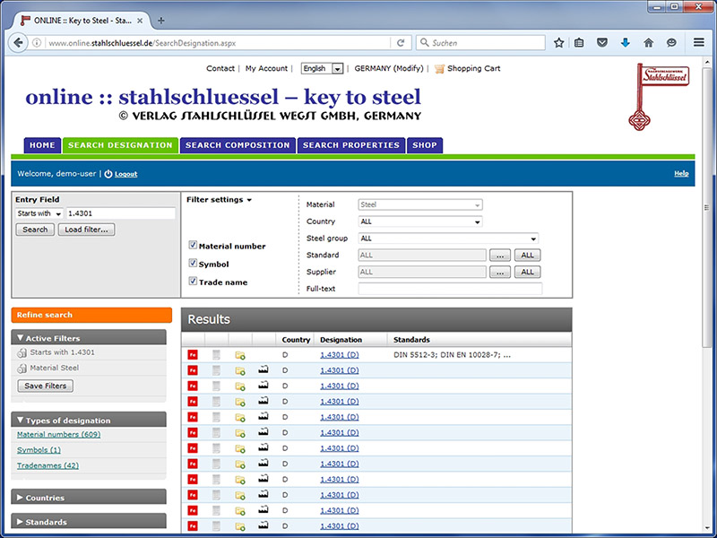 Search Designation Online Version Key To Steel